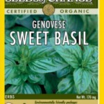 Seeds of Change Organic Genovese Sweet Basil Seeds