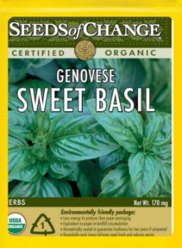 Seeds of Change Organic Genovese Sweet Basil Seeds