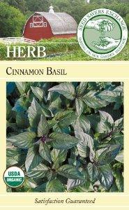 Organic Open-Pollinated Cinnamon Basil Seeds